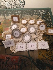 Michaels White Gold and Silver Table Numbers Reception Decoration