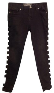 Dollhouse Cut-out Ladder Skinny Jeans-Dark Rinse