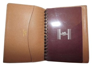 Hermès Hermes Tan leather Address Book Agenda & Hermes Notebook Paper