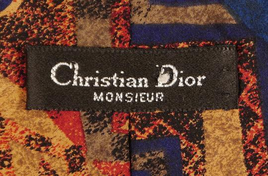 Christian Dior Christian Dior 100% Blue and Red Silk Tie: MSRP $250