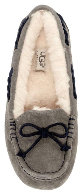 Item - Pewter Gray Tate Wool Lined Moccassin Loafer Slipper Flats Size US 7 Regular (M, B)