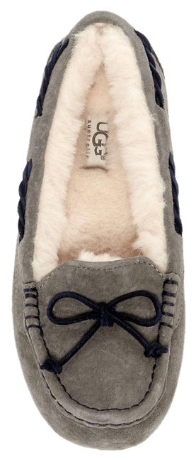 Item - Pewter Gray Tate Wool Lined Moccassin Loafer Slipper Flats Size US 8 Regular (M, B)
