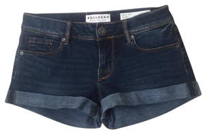 Bullhead Denim Co. Roll Up Cuffed Shorts Blue