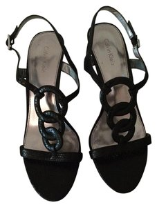 Calvin Klein Snakeskin Leather black Sandals
