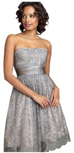 BCBGMAXAZRIA Strapess Metallic Lace Vintage Dress