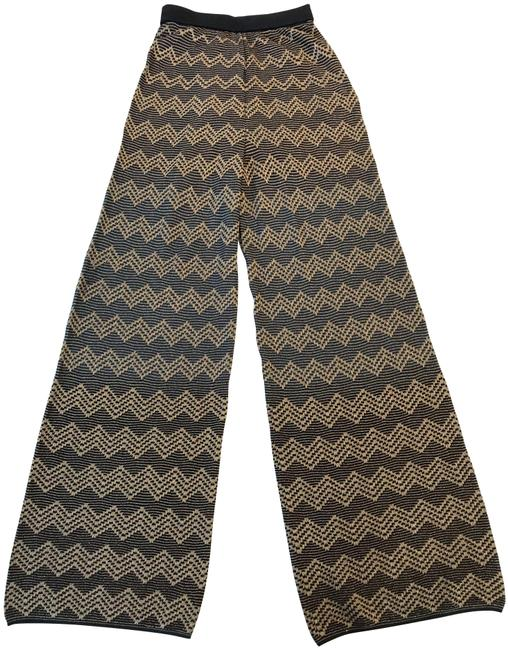 Item - Gold Flare Knitted Trousers Pants Size 4 (S, 27)