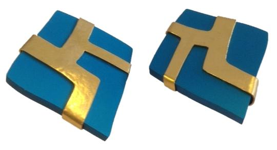 Preload https://item2.tradesy.com/images/gold-and-blue-24k-plated-earrings-1660641-0-0.jpg?width=440&height=440