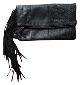 Express Faux Leather Black Clutch
