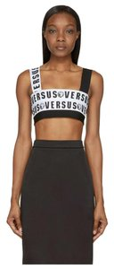 Versus Versace Black and white Halter Top