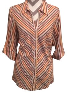 Lane Bryant Button Down Shirt Multi