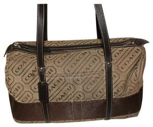 Coach Lorenze Satchel in Khaki Brown