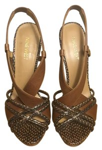 Nine West Brown/ brown & black faux snakeskin Pumps