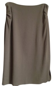 Giorgio Armani Ruching Ruched Skirt Grey