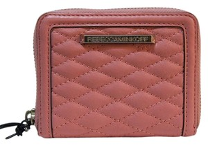 Rebecca Minkoff REBECCA MINKOFF Mini Ava Zip Wallet in Guava Quilted Leather ss26elvc02 NWT