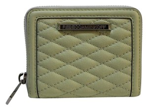 Rebecca Minkoff REBECCA MINKOFF Mini Ava Zip Wallet in Honey Dew Quilted Leather ss26elvc02 NWT