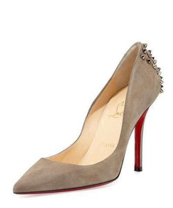 Christian Louboutin Zappa 100mm Spike Suede Grey Pumps
