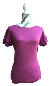 Ann Taylor Spring Work Office Casual Top Bright Purple