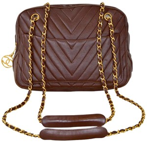 Chanel V Stitch Chevron Camera Camera Shoulder Bag