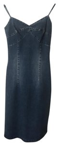 & Other Stories short dress Blue-Denim Denim Lace Up Size:x-small on Tradesy