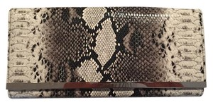 White House | Black Market Date Night Snake Skin Chic Whiteandblack Black & White Clutch