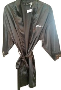 Frederick's of Hollywood NEW black robe with the name ERIN embroidered