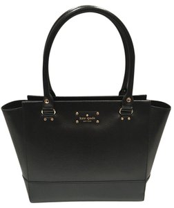 Kate Spade Camryn Wellsely Satchel in Black