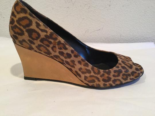Stuart Weitzman Gold Cheetah Wedges