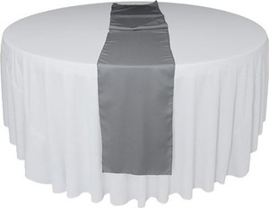 8 Gray Polyester Table Runners