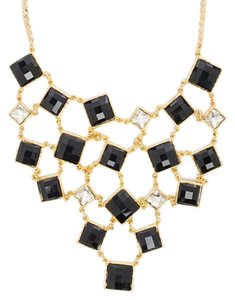 Amrita Singh Amrita Singh Color Block Bib Necklace Jet Black