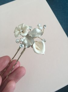 BHLDN Gold Twigs Honey Petite Flora Hairpins (2) From Hair Accessory