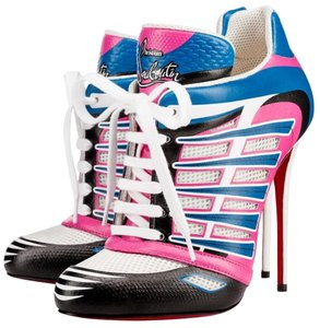 Christian Louboutin Baltina trainers white, pink, blue and black Boots
