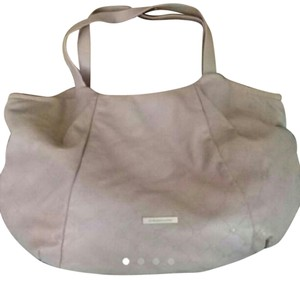 BCBGMAXAZRIA Leather Oversized Tote in taupe