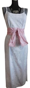 White/Pink Maxi Dress by Hilo Hattie