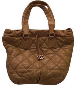 Chanel Quilted Tote in carmel