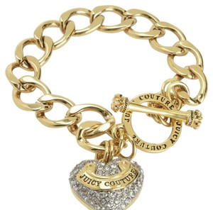 Juicy Couture PAVE BANNER HEART STARTER BRACELET SKU 2610