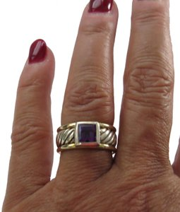 David Yurman Color Classics Amethyst Sterling Silver/14k Ring