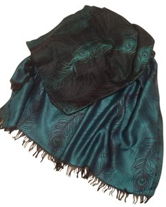 Other Peacock teal scarf