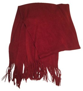 Chenille red scarf