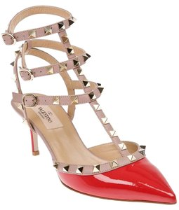 Valentino Patent Leather Strap Sandals Red Pumps