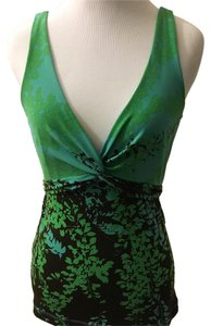 BCBGMAXAZRIA Top Teal/Green/Brown