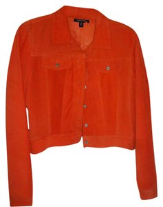 Karen Kane Short orange Leather Jacket