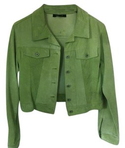 Karen Kane Short green Leather Jacket