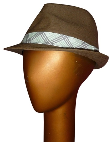 Urban Outfitters Army Green Fedora Plaid Hat Band