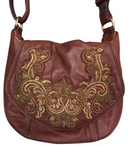 Isabella Fiore Brown Messenger Bag