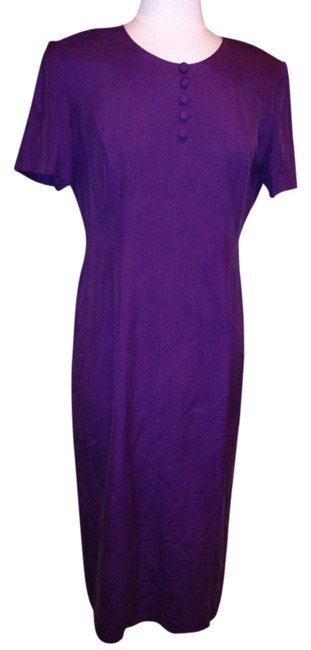 Preload https://item1.tradesy.com/images/talbots-purple-mid-length-workoffice-dress-size-petite-12-l-1661230-0-0.jpg?width=400&height=650