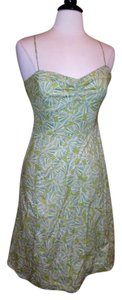 J.Crew short dress Multi Green Green Size 6 on Tradesy