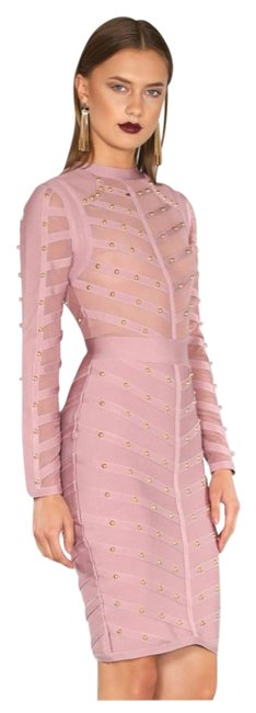 Preload https://img-static.tradesy.com/item/16612756/wow-couture-blush-bandage-knee-length-cocktail-dress-size-4-s-0-1-650-650.jpg