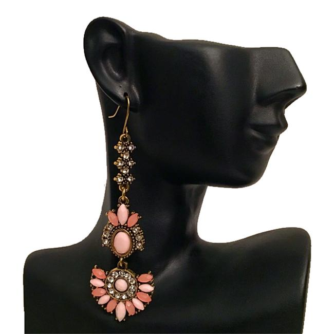 Unbranded Burnished Gold Pink Multicolor Rhinestone Statement Earrings Necklace Unbranded Burnished Gold Pink Multicolor Rhinestone Statement Earrings Necklace Image 1