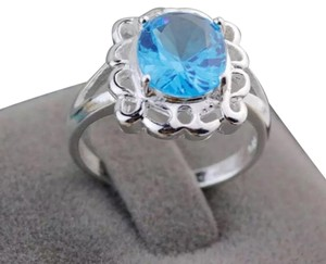 Blue Solitaire Ring Blue Solitaire Ring.