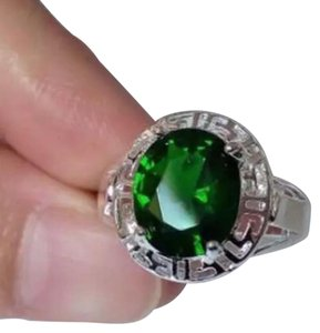Green Solitaire Ring. Green Solataire Ring